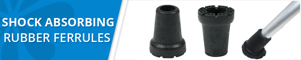 replacement shock absorbing rubber ferrules tips bottoms stoppers for walking sticks and crutches